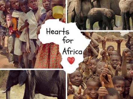 Hearts for Africa collage