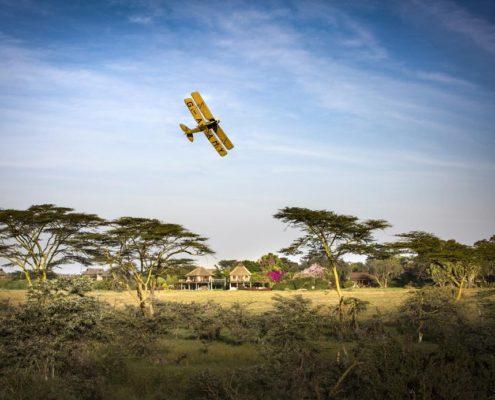 Flying Over Segera Camp in Kenya