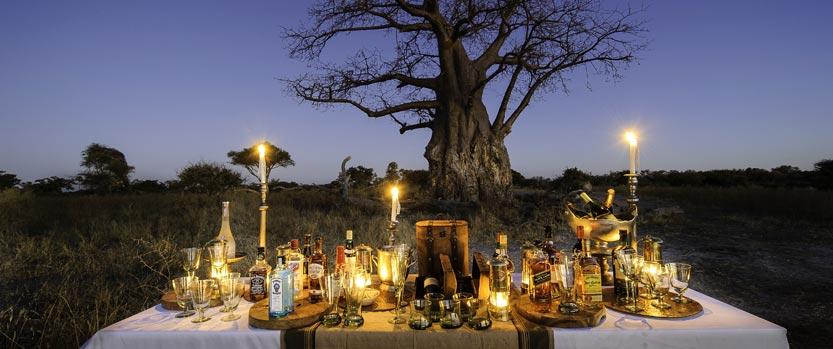 Sundown at Mombo Camp, Okavango Delta, Botswana