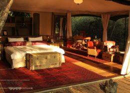 Mara Plains Bedroom in Kenya