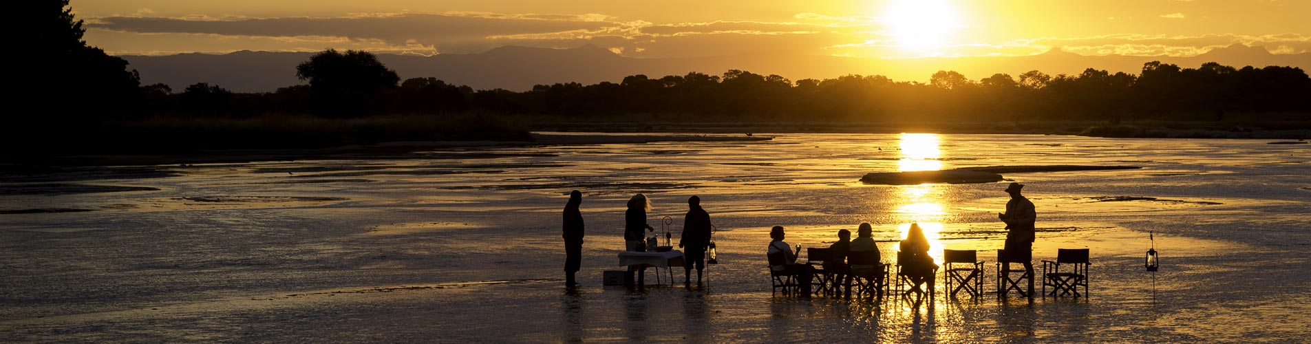 River Sundowners on Zambia Safari