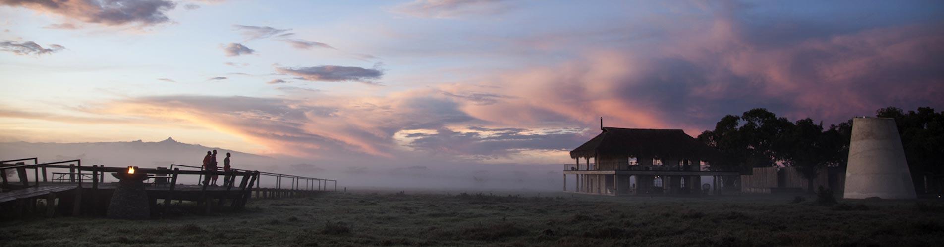 Segera Camp in Kenya At Dawn