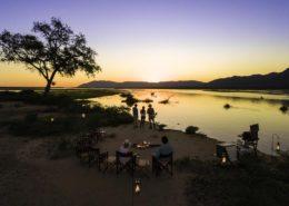 Sunset in the Zambezi