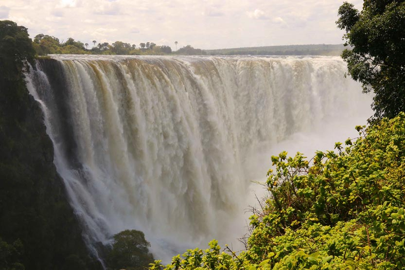 Image result for victoria falls from the top""