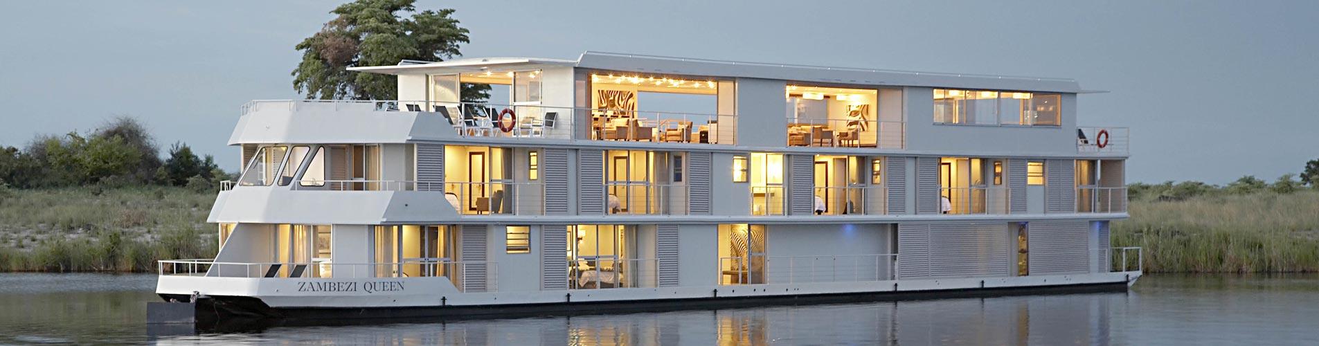 Custom Safari, Zambezi Queen Houseboat